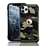 Protective Case for iPhone 6 iPhone 6S Hybrid Heavy Duty Army Case Premium Dual Layer Tough Rugged [Camouflage Design] Hard PC Back with Soft TPU Cover Boys Armor Defender Shell Case Cover-Green