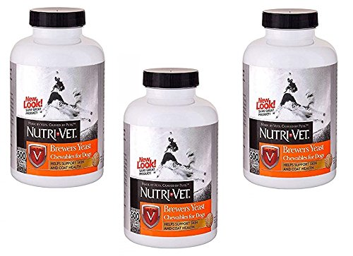 Nutri-Vet Brewers Yeast with Garlic Chewables, 500 Count (Pack of 3)