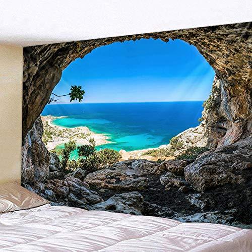 Tapiz para colgar en la pared con diseño de mar de coco impreso decorativo mandala tapiz indio decoración del hogar grande manta hippie 180 x 230 cm