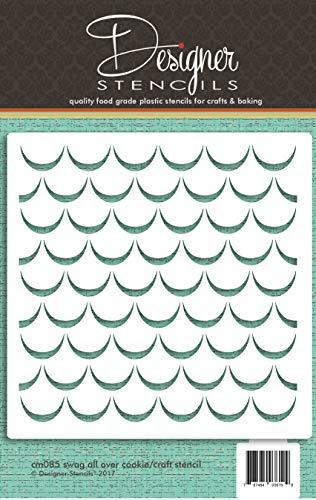 Plantilla para galletas y manualidades Swag CM085 por Designer Stencils