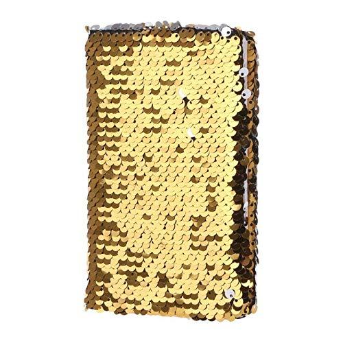 Cuaderno clásico Lentejuelas creativas Cuaderno Cuaderno Bloc de notas Glitter Diario Memosticery Suministros de oficina Suministros de oficina Papelería 78 Hojas Libreta de Viaje Cuaderno Agenda