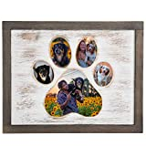 Dog Picture Frame With Paw Print Shape - Wooden Dog Photo Frame Gift...