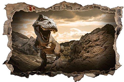 Dinosaurier T-Rex Dino Felsen Wandtattoo Wandsticker Wandaufkleber D0492 Größe 70 cm x 110 cm