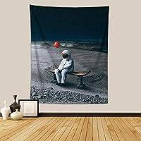 宇宙飛行士のタペストリー北欧の吊り布の家の装飾の座っている毛布-FGT10186垂直バージョン_150 * 200cm
