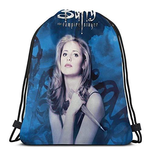 Hdadwy Buffy Sport Bag Gym Sack Drawstring Backpack for Gym Shopping