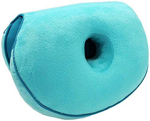 AYCYNI Comfort Cushion Folding Pillow, Portable Ergonomic Contoured Seat, Chair Pad for Car Truck Home Office Computer,Green,Latex,Lake Blue,Latex