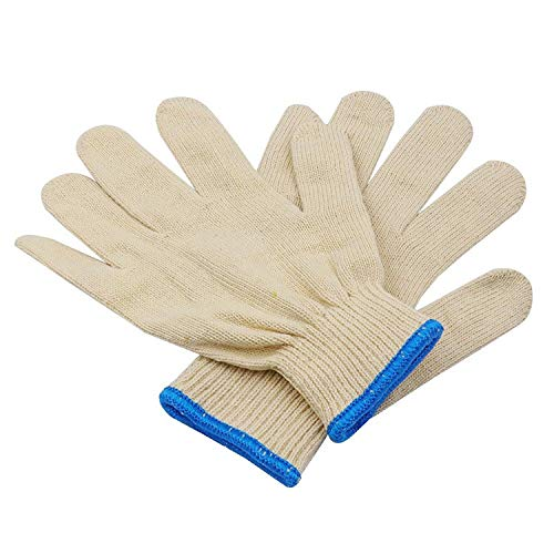 ZMYY 12 Pairs Work Gloves and Gardening Gloves Breathable and Flexible for Garden Mechanic Welding General Purpose Easily Put on/off