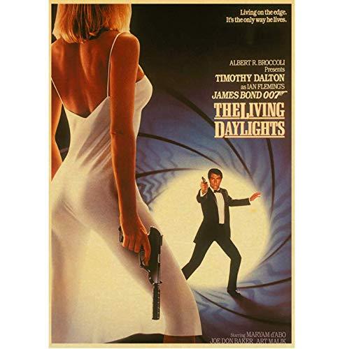 N/P Filmplakat Britische Legende James Bond 007 Retro Poster Leinwand Papier Home Wohnzimmer Dekoration Wandaufkleber Gemälde 40 * 60 cm Rahmenlos