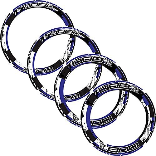 Decal de rayas de llanta de rueda 4 x borde de grueso Etiqueta exterior Etiqueta de rotura de la raya de las calcomanías de la rueda ajustada a todos Kawasaki Z800 Raya de la decoración de la segurida