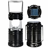 XHAIDEN® New 3 Way Power Source Solar Camping LED Lanterns Light with Power Bank (3 Power Source-...