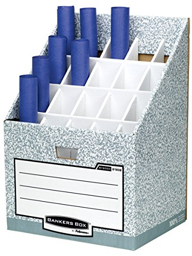 Bankers Box by Fellowes System Posterständer Roll/Stor (20 Fächer, aus 100% recyceltem Karton)...