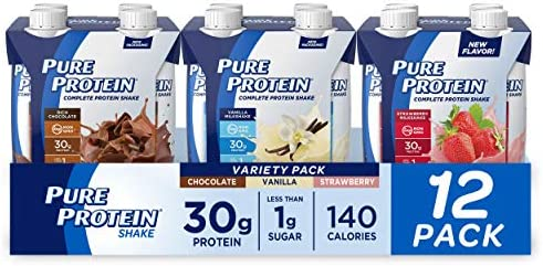 Pure Protein Complete Protein Shake Ready to Drink Variety Pack 30g Whey Protein Snack with product image