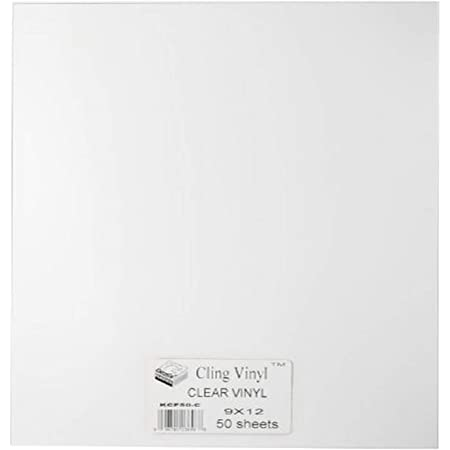 """Grafix Clear, 9 x 12"""" Sheets, Pack of 50, Static Film, Create Your Own Window Clings and Temporary Decorations, Just Stick to Any Glass, Acrylic, or Glossy Surface, 50-Pack, 50 Count"""