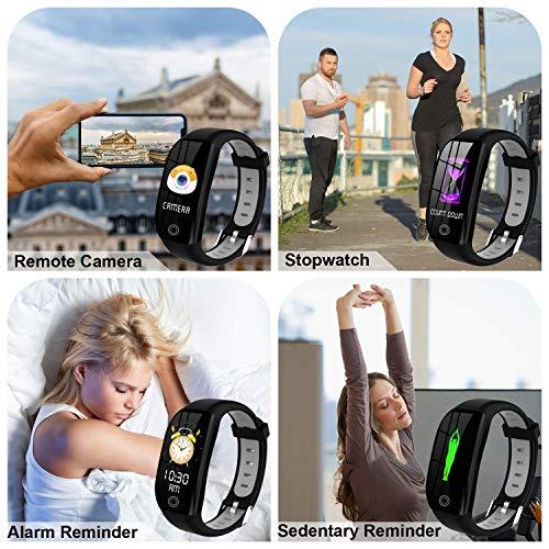 Tipmant Fitness Armband mit Pulsmesser Blutdruckmessung Smartwatch Fitness Tracker Wasserdicht IP68 Fitness Uhr Schrittzähler Pulsuhr Sportuhr für Damen Herren Kinder ios iPhone Android Handy Schwarz - 6