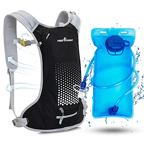 Valenzva Hydration Backpack,Water Backpack with 2L Water Bladder Running,Water Backpack for Hiking,Cycling Backpacks,Running Backpack (Black)