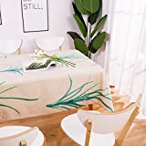 yueyue947 / Geometría Plantas Tropicales Mantel/Manteles Cuadrados de Lino de algodón/Rectangular Dinner Table Cover Coffee Table Tea Home/E 60x60cm