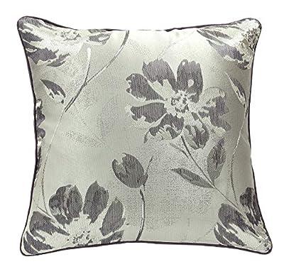 Woven Cushion Cover Jacquard Purple / Silver 43cm x 43cm