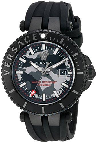 Versace Reloj Analógico para Hombre de Cuarzo con Correa en Caucho VA