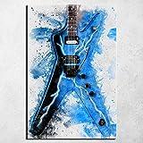 YWOHP Pintura Abstracta música Guitarra eléctrica nórdica decoración del hogar Cartel Dormitorio Mur...