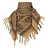Three -Tigers Military Shemagh Scarf Tactical Arab Keffiyeh Scarf Arabic Cotton Paintball Camouflage Head Scarf Airsoft Face Mask