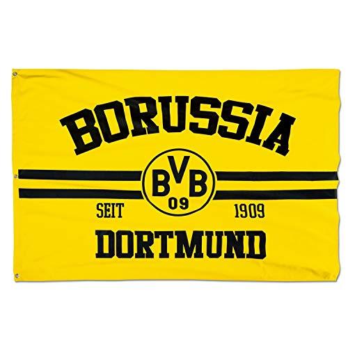 Borussia Dortmund Hissfahne - Seit 1909 - Fahne Logo 150 x 100 cm Flagge BVB 09 (L)