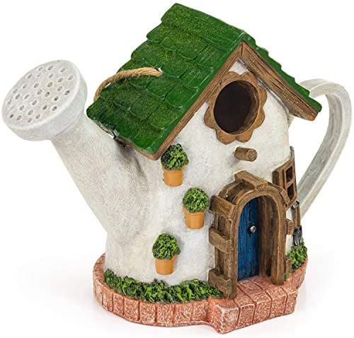 VP Home Vintage Watering Can Decorative Hand Painted Birdhouse product image