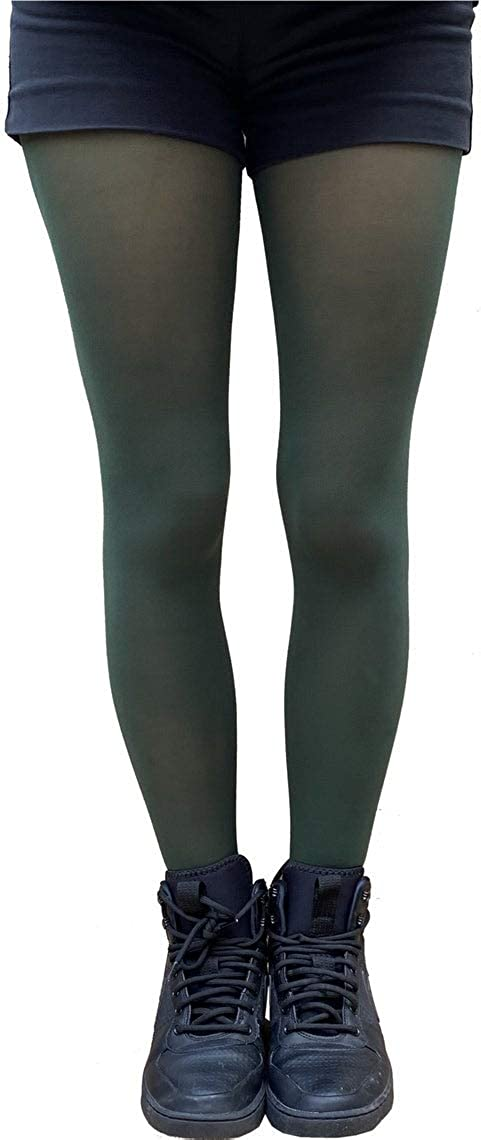 Dark Green Tights Plus Size for women available from XL to5XL