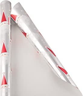 JAM PAPER Gift Wrap - Christmas Wrapping Paper - 12 Sq Ft - Snowflake Santa - Roll Sold Individually
