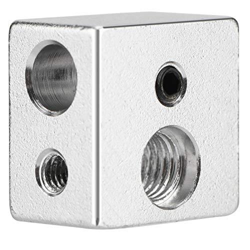 Blocco Riscaldante in Alluminio MK10, Richer-R Blocco Riscaldatore a Blocchi di Calore in Alluminio per Stampante 3D, 20 x 20 x 13mm Parte Riscaldatore MK10 Blocco Riscaldatore a Caldo per Riscaldator