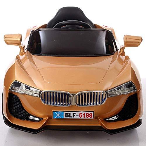 LY88 Neue Kinder Elektroauto Schaukel Doppelantrieb Baby kann Menschen Auto 1-3-6 Jahre alt ferngesteuert Spielzeugauto sitzen Mitfahrgelegenheiten Kinderautos Mitfahrfahrzeug Spielzeug (Farbe: R
