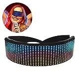 Gafas LED Bluetooth Gafas inteligentes Persianas a todo color en forma de corazón Accesorios de fiesta de Navidad de Halloween Control de conexión de la aplicación