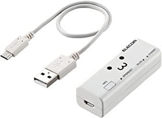 エレコム WiFiルーター 無線LAN ポータブル 300Mbps USBケーブル付属 WRH-300WH3-S