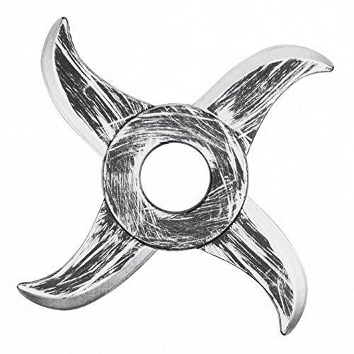Ninja stella Lunghezza: 16cm Colore: argento/nero Materiale: plastica Accessorio perfetto per costumi Ninja
