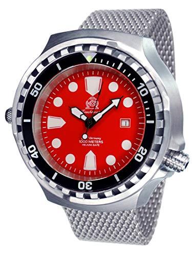 Tauchmeister 52mm Automatik Uhr mit Milanaiseband Saphir Glas T0331MIL