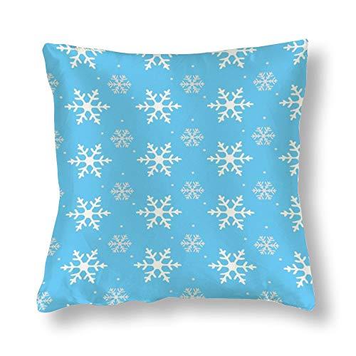 Funda de almohada con diseño de copo de nieve