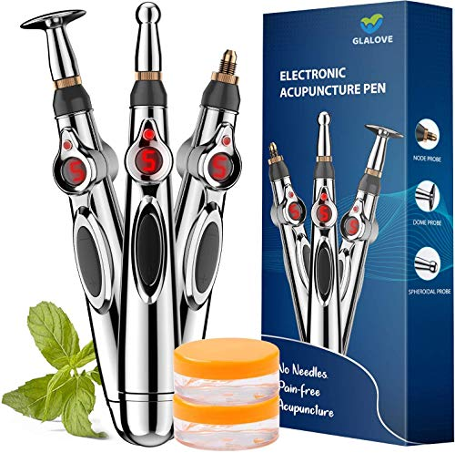 Acupuncture Pen, Electronic Acupuncture Pen for Pain Relief Therapy, Powerful Meridian Energy Pen Relief Pain Tools 1 x AA Battery (Not Included)