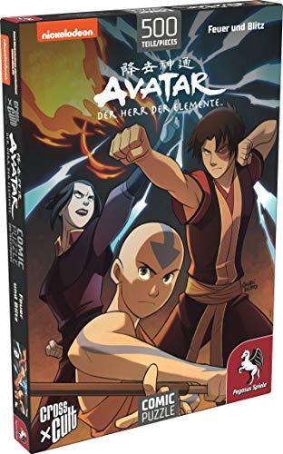 Pegasus Spiele 76002G - Puzzle: Avatar - Der Herr der Elemente (Feuer und Blitz), 500 Teile