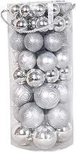 66 Pcs Xmas Shatterproof Balls Ornament Baubles Christmas Tree Decoration Hanging Indoor Pendant Silver