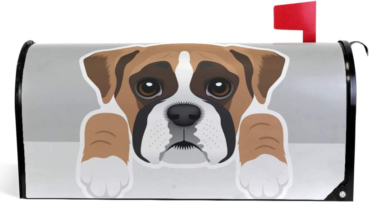 Wamika Cute Puppy Mailbox Covers Long Beach Mall Magnetic Wrap Under blast sales Boxer Dog