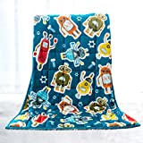 Sivio Kids Flannel Weighted Blanket (3lbs), Ultra Soft and Comfy Heavy Blanket, Great for Calming...
