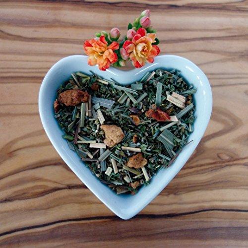 Mittagspause von Naturherz - Ausgleichender Bio Cistus Tee-Mix mit frischem Lemongras, süßen Apfelstückchen und sanfter Bourbon Vanille 100g