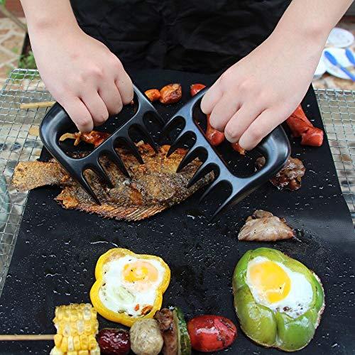 MisterConcreto Artigli forchettone per maneggiare, Tagliare, sminuzzare Pollo, Tacchino, polpettone,Artigli per Carne da Barbecue BBQ, 2 PZ