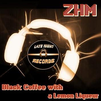 Black Coffee With A Lemon Liqueur