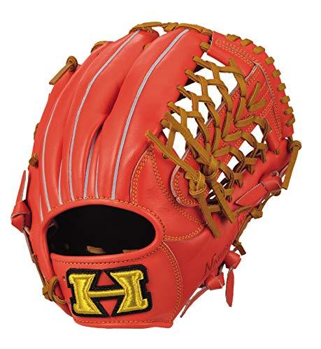 HI-GOLD(ハイゴールド)軟式グラブ己極(おのれきわめ)シリーズ 三塁手・オールポジション用 OKG-6435 右投げ LH ファイヤーオレンジXタン orange D-4