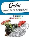 Cactus Libro para colorear: bocetos botanicos, pintar cactus acuarela acrilico colores practicas de pintura