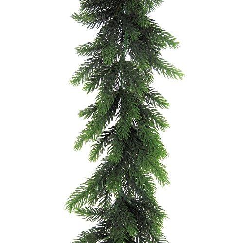 Künstliche Fichtengirlande 170 cm lang in grün