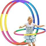 Hula Hoop - Set di 2 pneumatici per bambini, 8 sezioni, rimovibili, per fitness, hula hoop, per casa, esterno, scuola, feste, danza, bruciare i grassi, danza, yoga