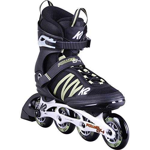 K2 Skates Herren Inline Skate Power 84  — Black - Sand — EU: 44.5 (UK: 10 / US: 11) — 30D0371