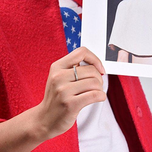 Three Keys Jewelry 2mm 3mm Womens Titanium Wedding Ring Matte Frost Wedding Band Engagement Ring
