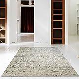 Hand-Web-Teppich | Reine Schur-Wolle im Skandinavischen Design | Wohnzimmer Esszimmer Schlafzimmer Flur...